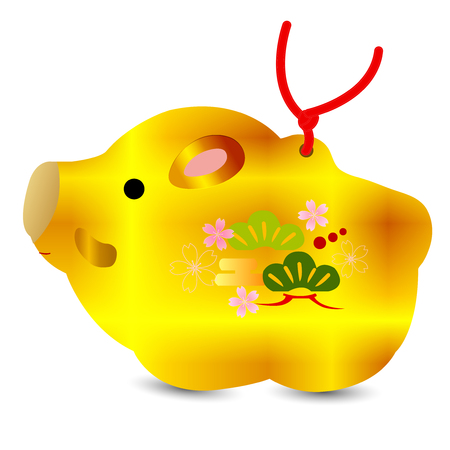 boar New Year card Object icon