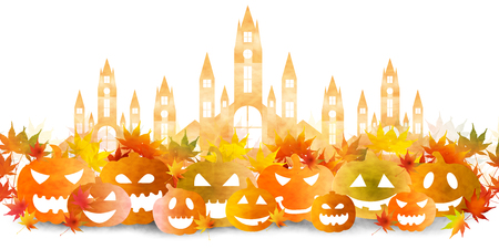 Halloween Castle Autumn Background
