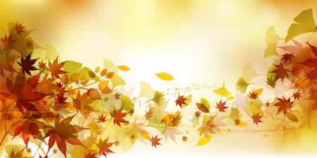 Autumn leaves Maple autumn background 일러스트