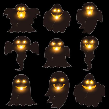 Halloween Haunted Fall Icon Illustration