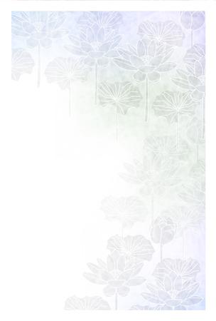 Lotus groeiende briefkaart achtergrond