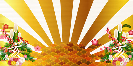 Sunrise first selling New Year card background