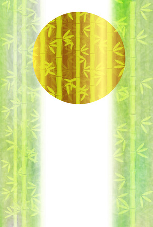 bamboo Japanese paper New Year card background
