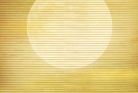 Sunrise Japanese paper New Years card background Illustration