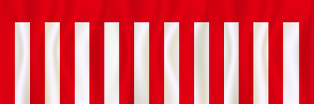 Curtain start selling red and white background 向量圖像