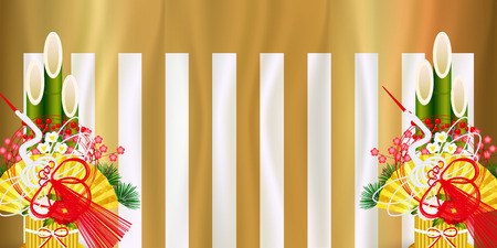 curtain First selling Gold background