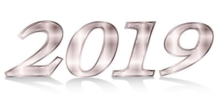 2019 Christian era New Year's icon Foto de archivo - 113290666