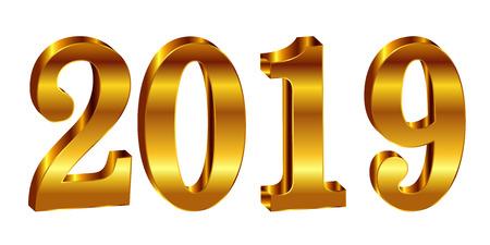 2019 Christian era New Year's icon Foto de archivo - 113290723