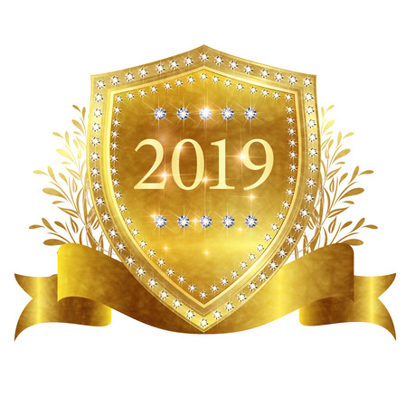 2019 New Year's Emblem icon Banque d'images - 113290742