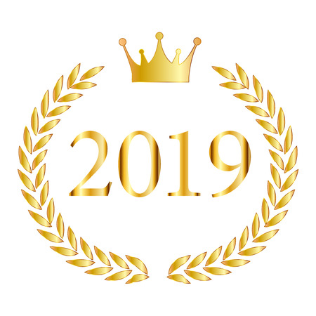 2019 New Year crown icon Banque d'images - 113290881