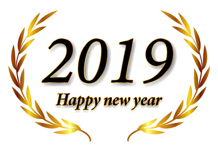 2019 New Year Laurie Icon Banque d'images - 113290883