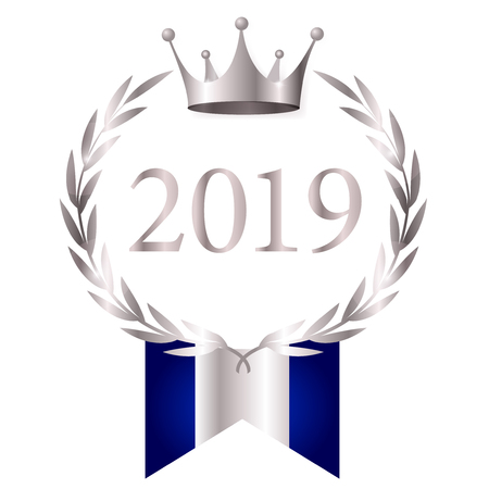 2019 New Year crown icon Banque d'images - 113290890