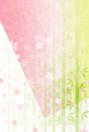 Cherry Blossoms Spring New Year card background
