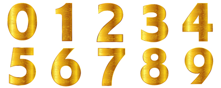 Numeral character gold icon