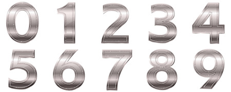 Numeral letter silver icon