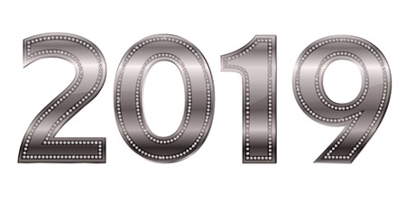 2019 New Year AD icon Foto de archivo - 114175491