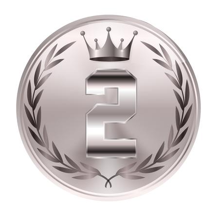Crown medal Laurel icon Banque d'images - 115378870