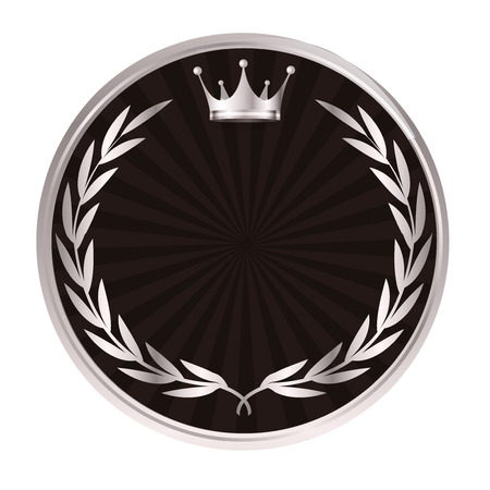 Crown medal Laurel icon