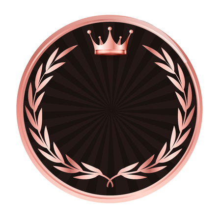 Crown medal Laurel icon
