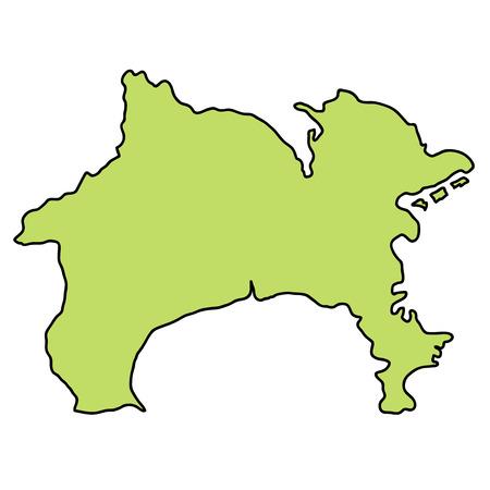 Kanagawa Map frame icon