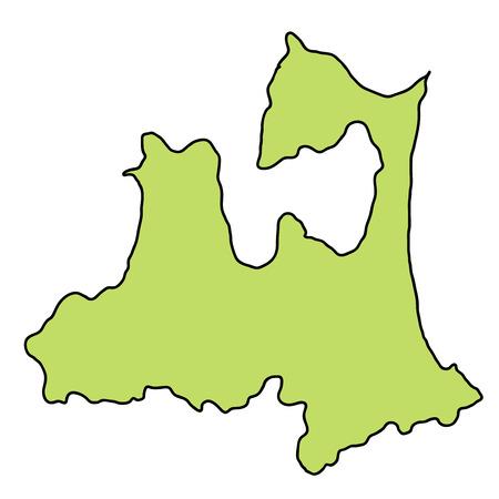 Aomori Map frame icon 일러스트