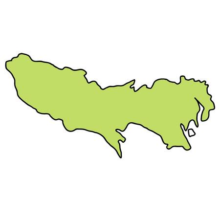 Tokyo Map frame icon 일러스트