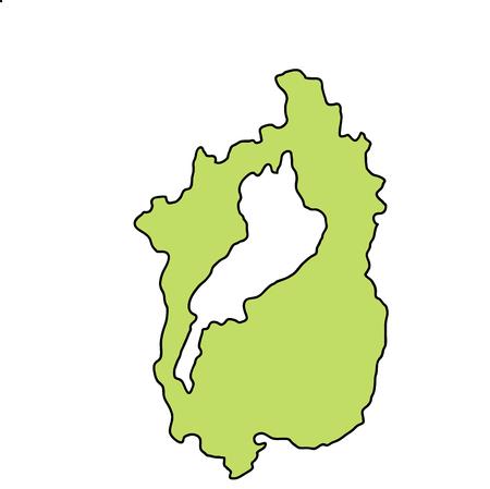Shiga Map frame icon 일러스트