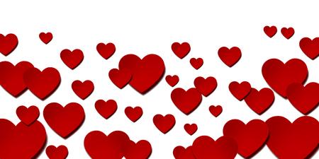 Valentine Heart Winter Background