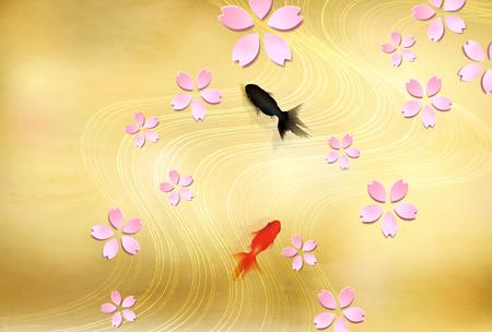 Cherry Blossom spring flower background Ilustración de vector