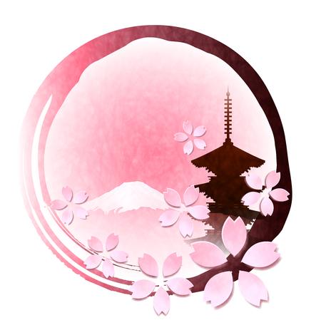 Icona del fiore di primavera del fiore di ciliegio