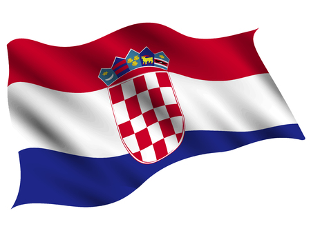 Croatia Country flag icon Stock Vector - 116931176