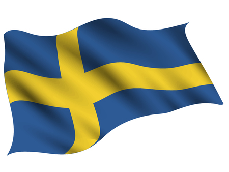 Sweden Country flag icon Stock Illustratie