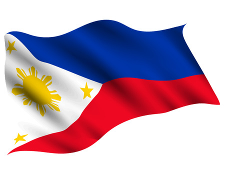 Philippines Country flag icon Illusztráció