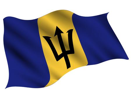 Icône de drapeau de pays de la Barbade
