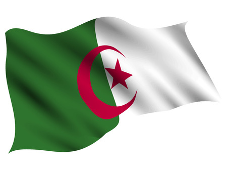 Algeria Country flag icon Illustration