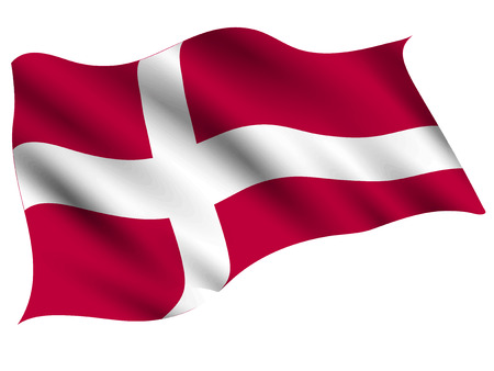 Symbol der dänischen Landesflagge