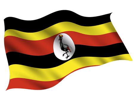 Uganda Country flag icon Stock Illustratie