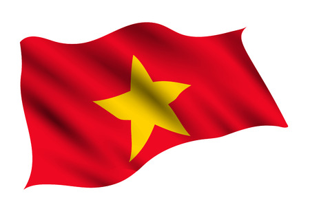 Vietnam Country flag icon 일러스트