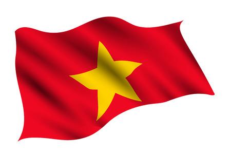 Vietnam Country flag icon Stock Illustratie