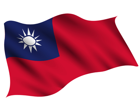 Taiwan Country flag icon Standard-Bild - 117455672