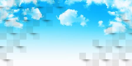 Sky cloud landscape background Stock Vector - 117455797