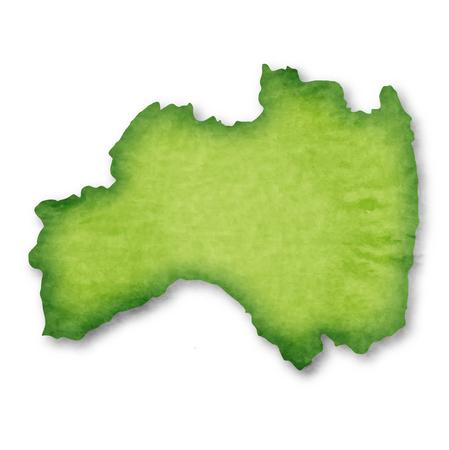 Fukushima Prefecture  Prefecture Japan map icon