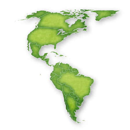 America Map Frame Icon 일러스트