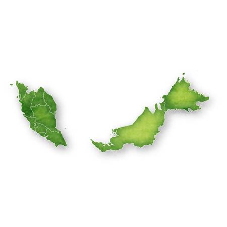 Icône de cadre de carte de Malaisie Vecteurs