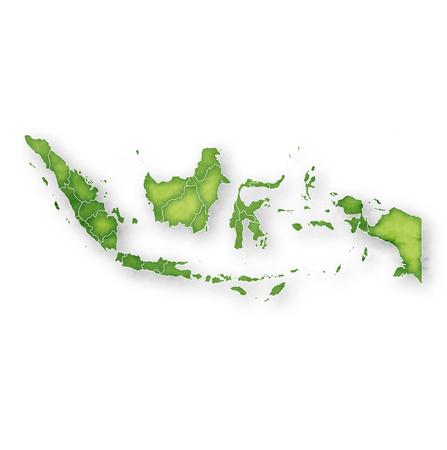 Icône de cadre de carte de l'Indonésie