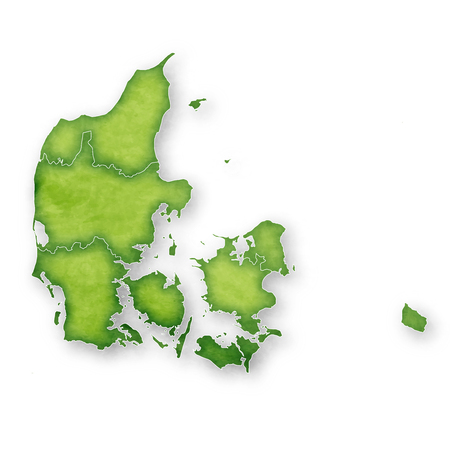 Denmark Map Frame Icon Vectores