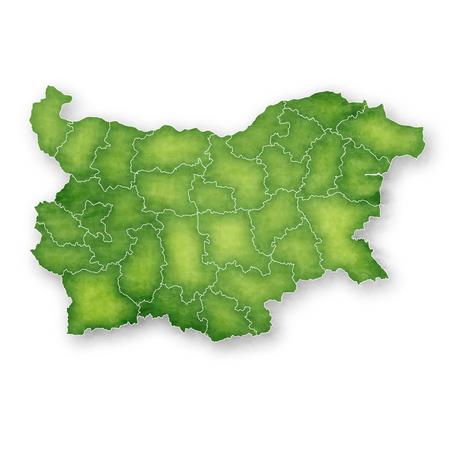 Bulgaria Map Frame Icon Vektorové ilustrace