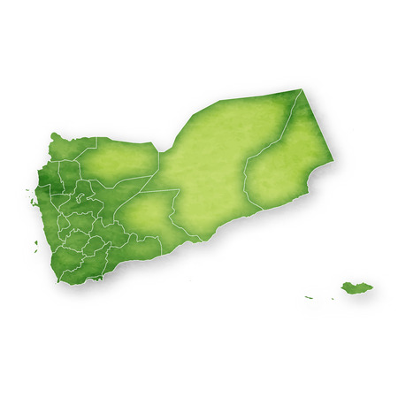 Yemen Map Frame Icon Illustration