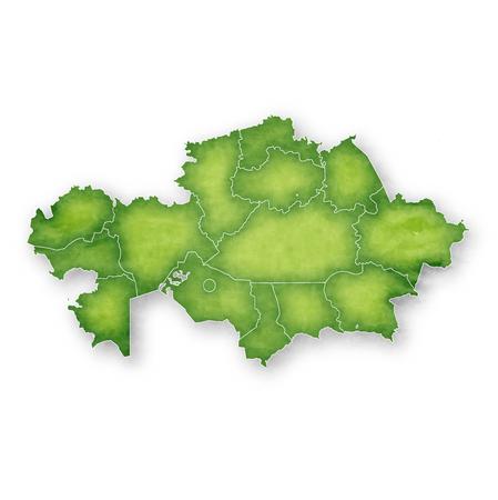 Kazakhstan Map Frame Icon  イラスト・ベクター素材
