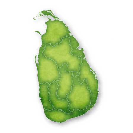 Sri Lanka Map Frame Icon  イラスト・ベクター素材